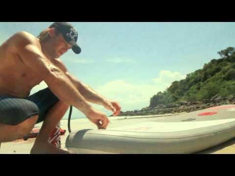Starboard inflatable WindSUP Setup 2013