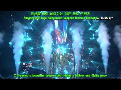 DBSK - Balloons [Inkigayo] (06.11.26) ~Peter Pan~ {Hangul, Romanization, Eng Sub}