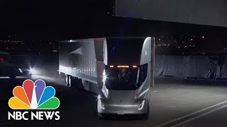 Tesla Ceo Elon Musk Unveils New Semi Truck | NBC News - NBCNEWS