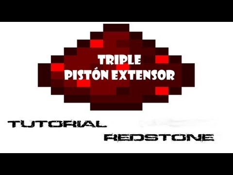 Triple piston extensor (Vertical) || Tutorial de Redstone