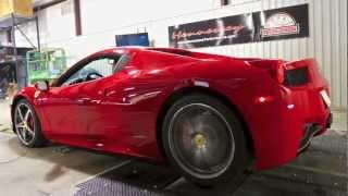 Ferrari 458 Spider by Hennessey - Stock Baseline Dyno Testing