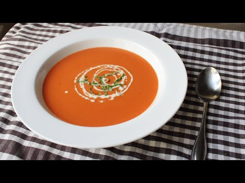 foodwishes - Tomato Bisque - Creamy Tomato Soup Recipe - Learn how to make a Tomato Bisque recipe! Go to http://foodwishes.blogspot.com/2013/10/tomato-bisque-soup-might-not-count-as.html for the ingredient amounts, extra information, and many, many more video recipes! I hope you enjoy this easy Creamy Tomato Soup recipe!