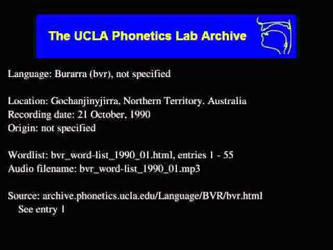 Burarra audio: bvr_word-list_1990_01