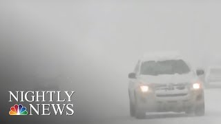 Travel troubles: snow cancels flights along the East Coast | NBC Nightly News - NBCNEWS