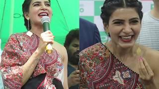 Samantha Akkineni Launches Oppo F11 At BigC Mobiles In Vijayawada - RAJSHRITELUGU