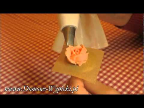 Róża z masy. Dekoracja ciast. ~ www.Domowe-Wypieki.pl ~