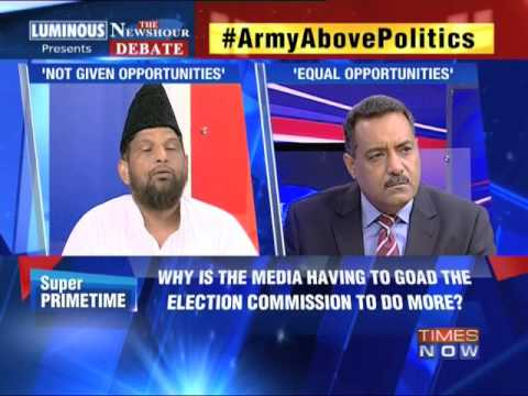 The Newshour  Debate: Army Above Politics - Part 1 (9th April 2014)