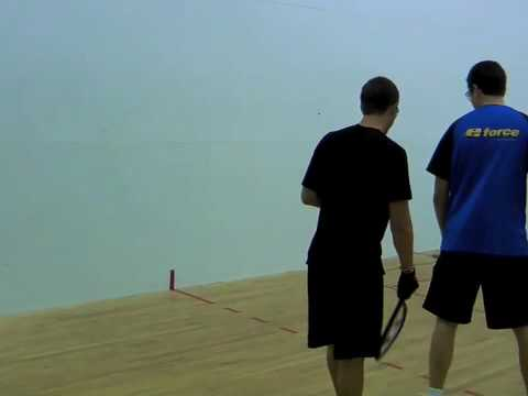 Learn to Play Racquetball: Down the Line Pass Backhand