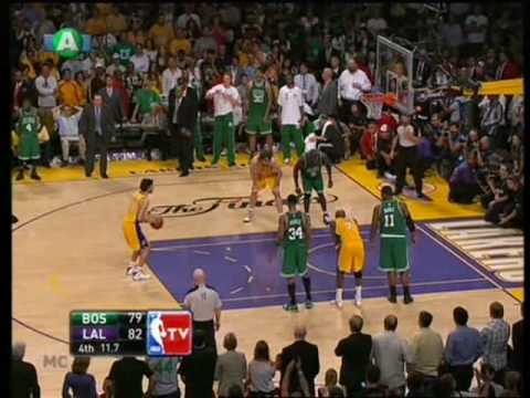 NBA Finals 2010 game 7 (end 4-3) Los Angeles Lakers - Boston Celtics 83-79 the grand finale