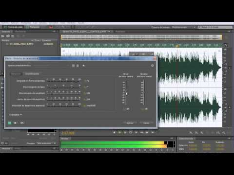 Adobe Audition CS5.5 Remove voice and acapella Demo tutorial