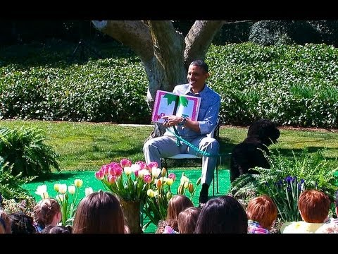 2013 White House Easter Egg Roll: President Obama Reads to Kids