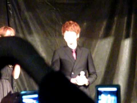 [Fancam] 110615 Kyuhyun thank to Thai ELF @ Masita Press Conference