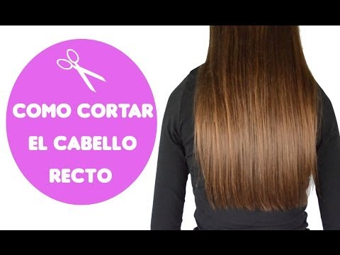Como cortar el cabello recto / how to cut straight hair