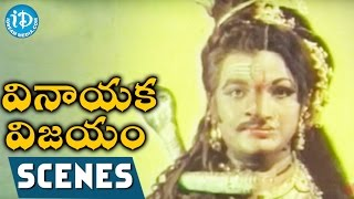 Vinayaka Vijayam Movie Scenes - Vinayaka Worshipping His Parents    Krishnam Raju    Vanisri - IDREAMMOVIES