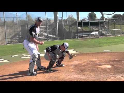 Baseball-Catcher. Next Level Catching Academy Tutorial: Secondary Stance