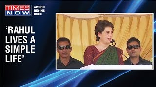 """Rahul is a simple man"", says Priyanka Gandhi while campaigning for Congress in Kerala - TIMESNOWONLINE"