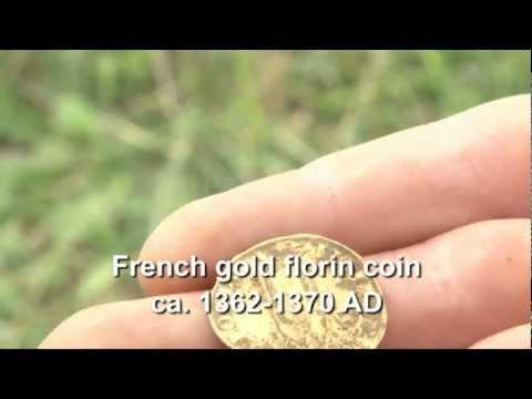 Золотая монета нашли Аськой