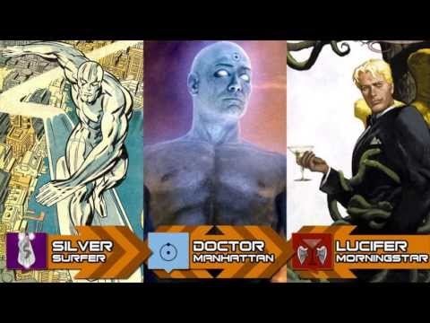 Silver Surfer Vs Dr Manhattan Vs Lucifer Morningstar