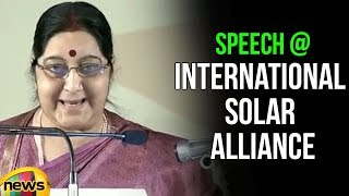 Smt Sushma Swaraj's speech at Founding Conference of International Solar Alliance | Mango News - MANGONEWS