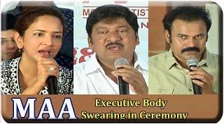 MAA Executive Body swearing in ceremony 2015 Full Video   Movie Artistes Association - SRIBALAJIMOVIES