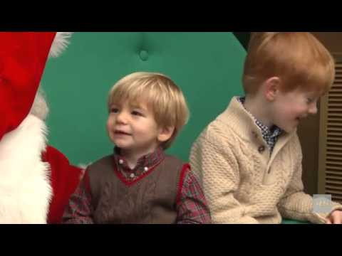 Aww Cute kids talk to Santa Claus