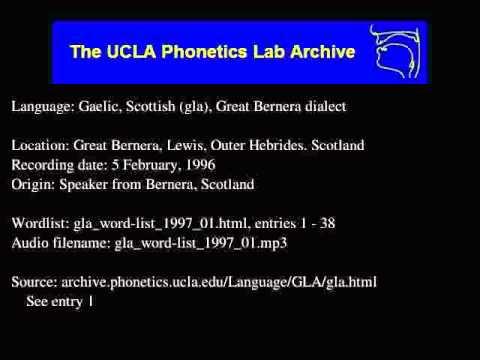 Gaelic, Scottish audio: gla_word-list_1997_01