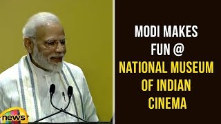 PM Modi Makes Fun At National Museum Of Indian Cinema In Mumbai | Modi Latest Speech | Mango News - MANGONEWS