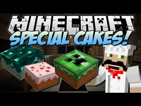 Minecraft SPECIAL CAKES The Cake Is A LIE Mod Showcase 1.6.4