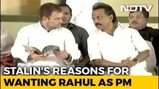 """Rahul Gandhi-For-PM Job Because..."": DMK's Stalin Explains Proposal - NDTV"