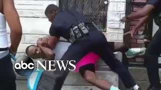 Police officer suspended after beating a man in Baltimore - ABCNEWS