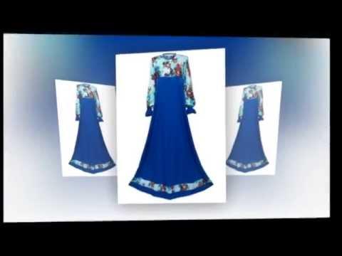 Jubah Muslimah Moden Koleksi Aura dari Butik Online Hannaniya
