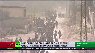 Hundreds of civilians evacuated from E. Ghouta during ceasefire – Russian military - RUSSIATODAY