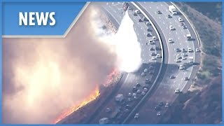 California Wilfires: choppers protect fleeing motorists - THESUNNEWSPAPER