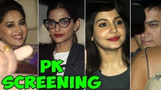 Bollywood Stars at PK Movie screening | PK Movie