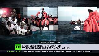 'Would PM move out of residence to accommodate migrants?' Spain students relocated to house refugees - RUSSIATODAY