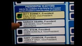 Машина для голосования в США