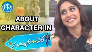 Regina About Her Character In Subramanyam For Sale Movie - Talking Movies With iDream - IDREAMMOVIES