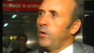 Reportagem sobre a chegada da equipa depois da eliminação frente ao Dinamo Bucareste em 1991/1992