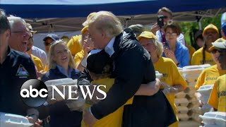 Boy asks for hug and Trump delivers - ABCNEWS