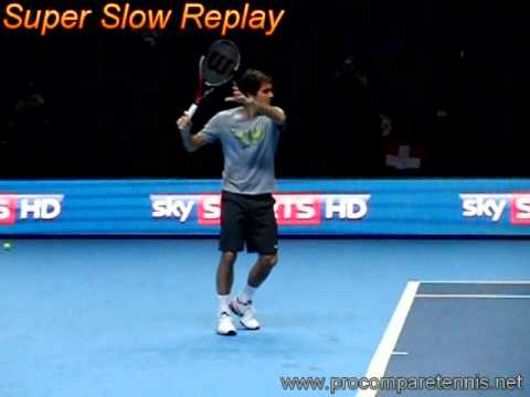 Federer Slow Motion Forehand 3 @ ATP Masters 2010