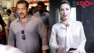 Salman Khan & Iulia Vantur Spotted At Mumbai Airport | Bollywood News - ZOOMDEKHO