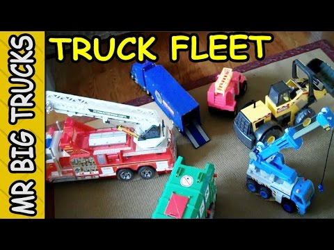 THE BEST FLEET OF TOY GARBAGE FIRE CONSTRUCTION TRUCKS FOR KIDS IN HD