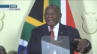 President Cyril Ramaphosa and Nhlanhla Nene answer questions from media on #stimuluspackage - ABNDIGITAL