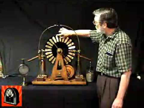 American Museum of Radio and Electricity - Wimshurst machine demonstration
