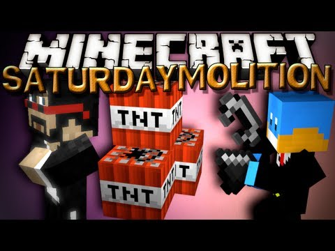 Minecraft SaturDaymolition - Captain Sparklez WORLD EXPLOSION!! - 2