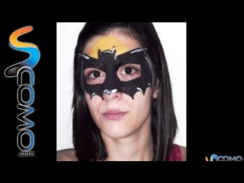 Maquillaje antifaz de Batman - Makeup mask batman