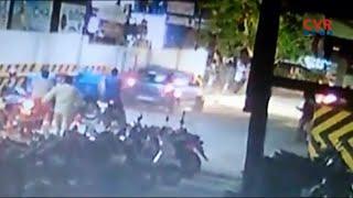 ఎంజీబీ మాల్ వద్ద కారు బీభత్సం : Car Hulchul at MGB Mall Parking in Nellore | CVR News - CVRNEWSOFFICIAL