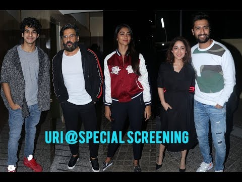 Vicky Kaushal, Yami Gautam, Suniel Shetty @ Ishaan  @Special Screening of Uri The Surgical Strike