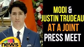 Modi-Justin Trudeau at a Joint Press Meet, Focus On Extremism | Mango News - MANGONEWS