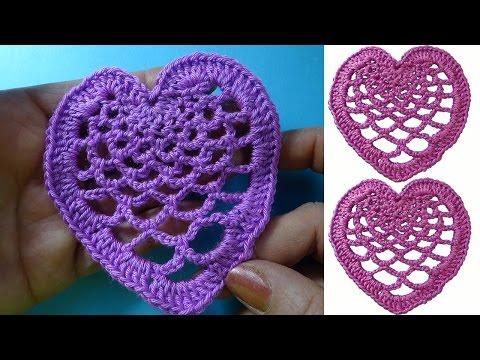 Ажурная валентинка crochet heart